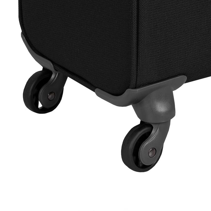 Czarna walizka miękka samsonite, czarny, 960-6039 - 16