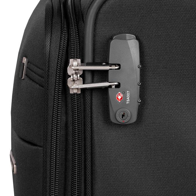 Czarna walizka miękka samsonite, czarny, 960-6039 - 15