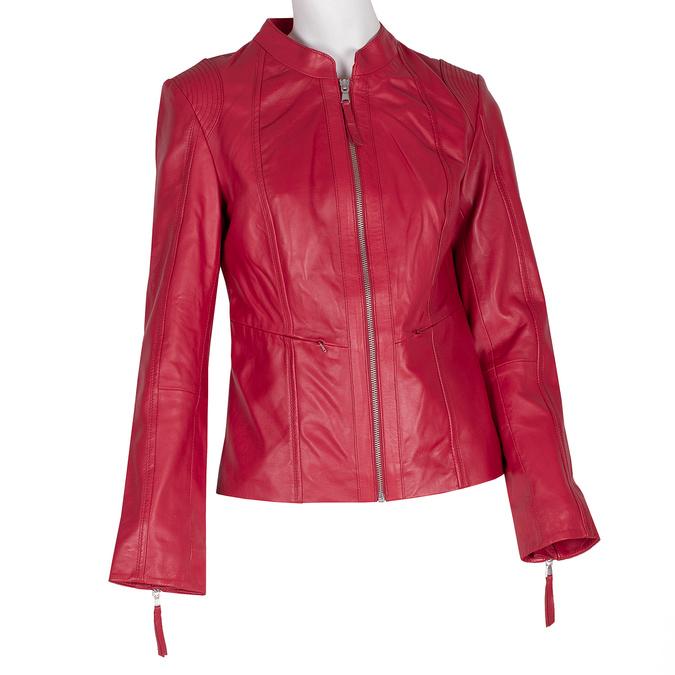 Czerwona skórzana kurtka bata, czerwony, 974-5180 - 13