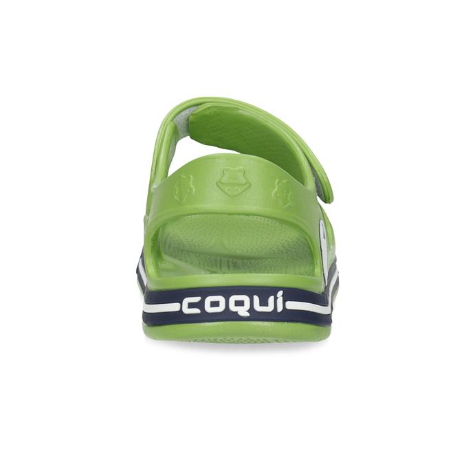 Zielone sandały chłopięce coqui, zielony, 372-7658 - 15