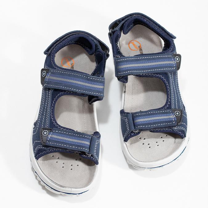 Niebieskie skórzane sandały chłopięce weinbrenner, niebieski, 463-9605 - 16