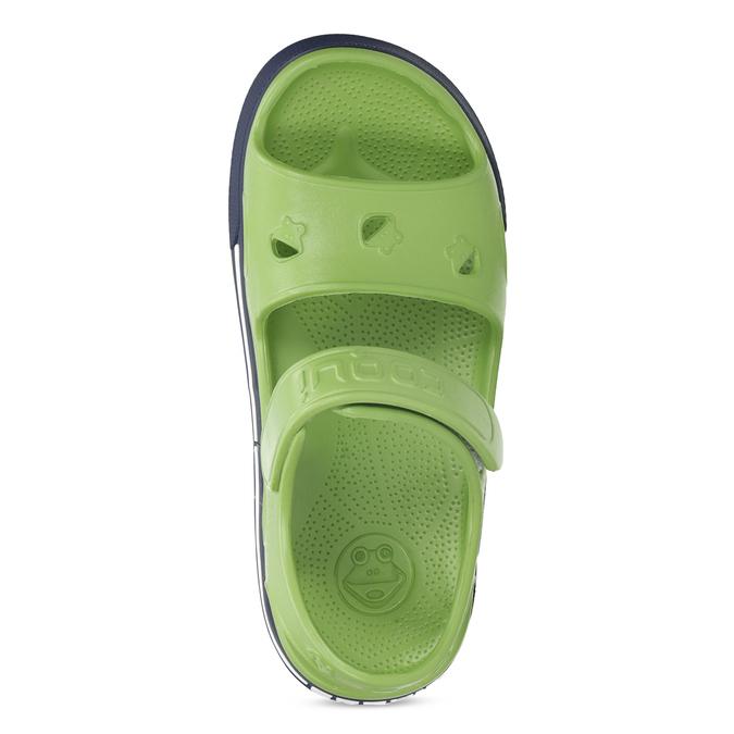 Zielone sandały chłopięce coqui, zielony, 372-7658 - 17