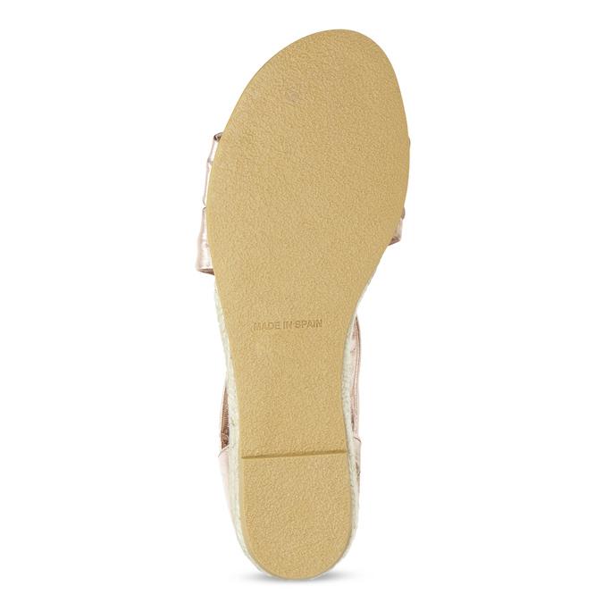 Sandały damskie na koturnach wkolorze różowego złota bata, brąz, 566-5649 - 18