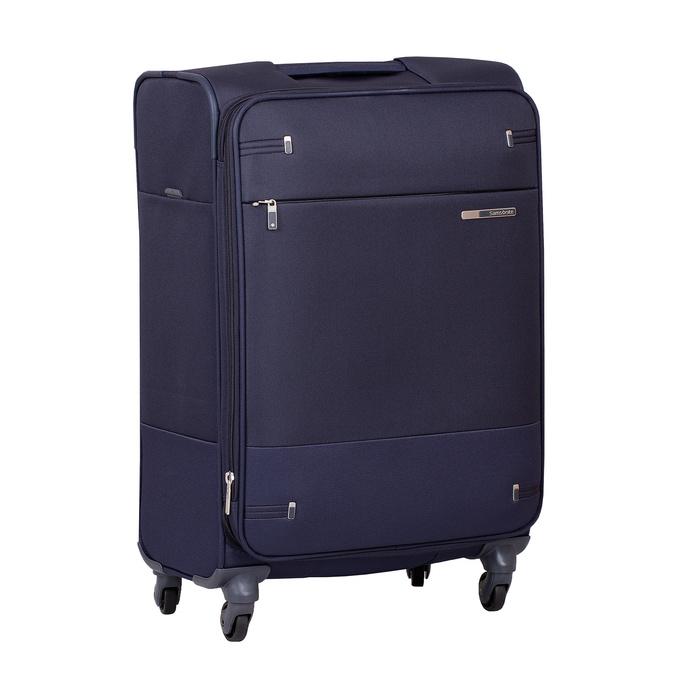 Mała miękka granatowa walizka na kółkach samsonite, niebieski, 960-9040 - 13