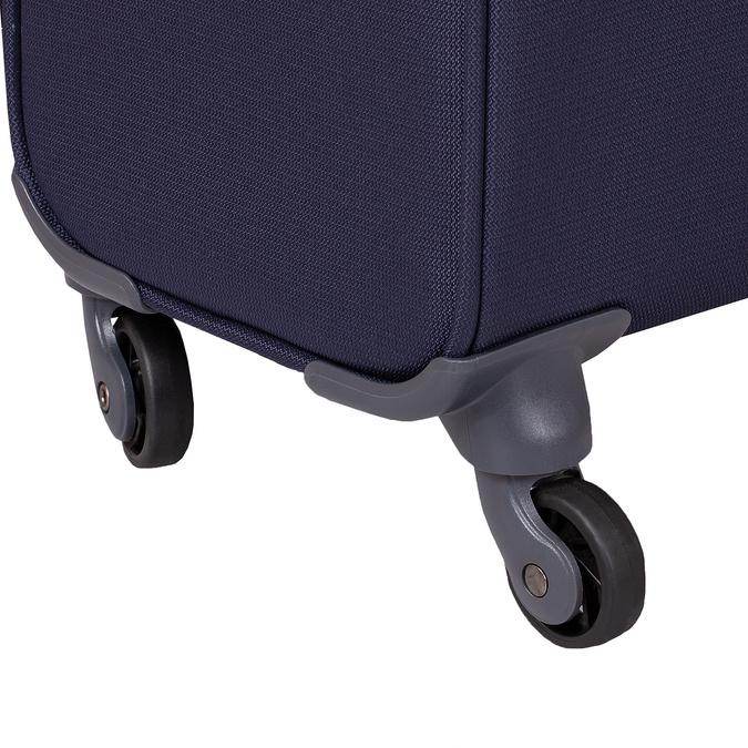 Mała miękka granatowa walizka na kółkach samsonite, niebieski, 960-9040 - 16