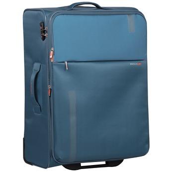 Duża turkusowa walizka na kółkach, zmateriału tekstylnego roncato, niebieski, 969-9719 - 13