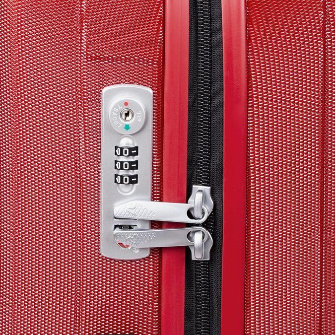 Duża czerwona twarda walizka na kółkach roncato, czerwony, 960-5736 - 15