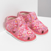 Różowe wzorzyste kapcie dziecięce za kostkę bata, różowy, 179-5212 - 26