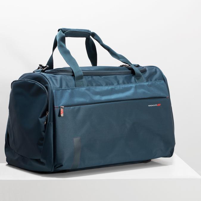 Torba podróżna z odpinanym paskiem na ramię. roncato, niebieski, 969-9725 - 17