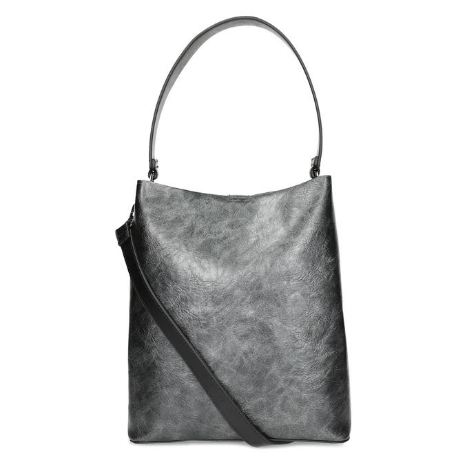 Czarna torebka zodpinanym paskiem bata, czarny, 961-2173 - 16
