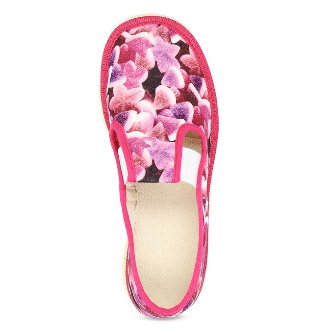 Różowe wzorzyste kapcie dziecięce bata, różowy, 379-9123 - 17