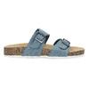 Niebieskie korkowe klapki damskie bata, niebieski, 579-9625 - 19
