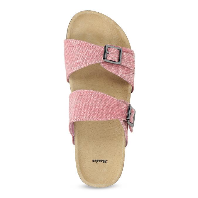 Różowe korkowe klapki damskie bata, różowy, 579-5625 - 17