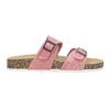 Różowe korkowe klapki damskie bata, różowy, 579-5625 - 19