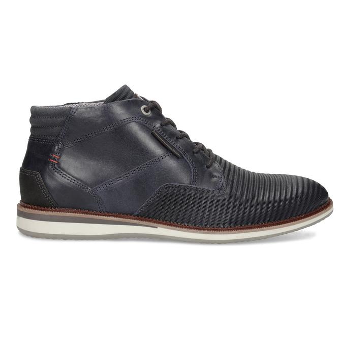 Granatowe skórzane obuwie męskie za kostkę bata, niebieski, 826-9912 - 19