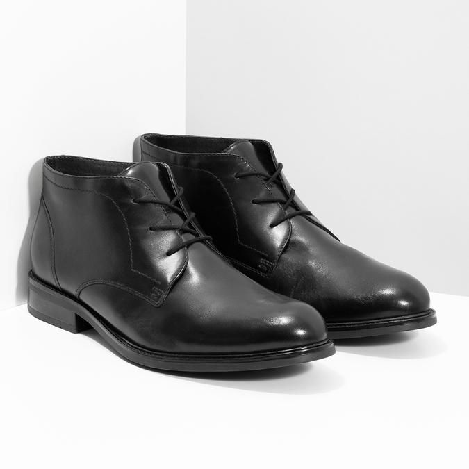 Skórzane obuwie męskie za kostkę bata, czarny, 824-6893 - 26