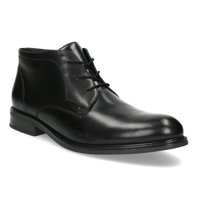 Skórzane obuwie męskie za kostkę bata, czarny, 824-6893 - 13