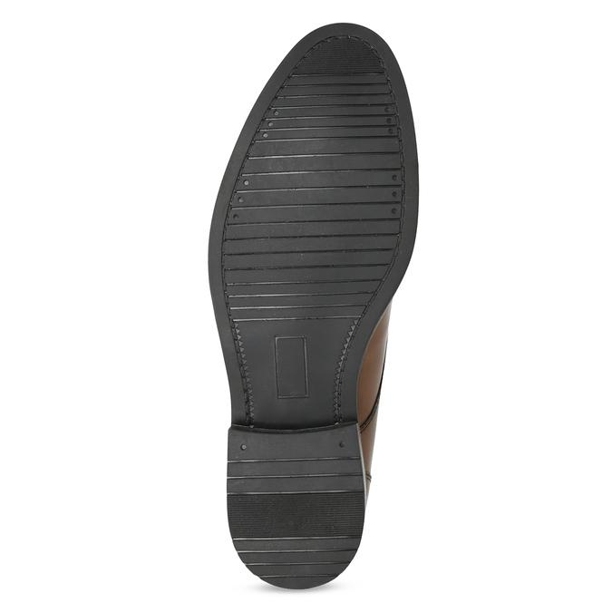 Skórzane obuwie męskie za kostkę bata, brązowy, 826-3893 - 18
