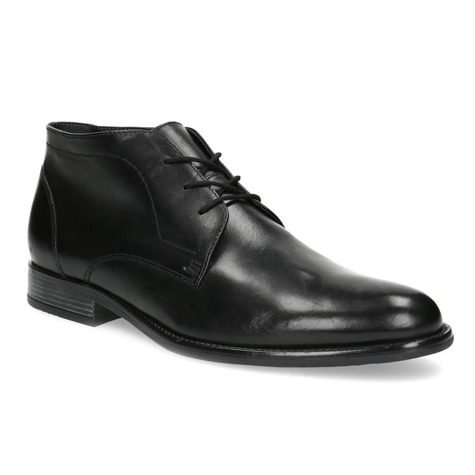 Skórzane buty męskie za kostkę bata, czarny, 824-6892 - 13