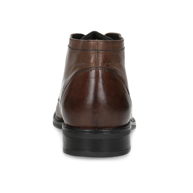 Skórzane obuwie męskie za kostkę bata, brązowy, 826-3893 - 15