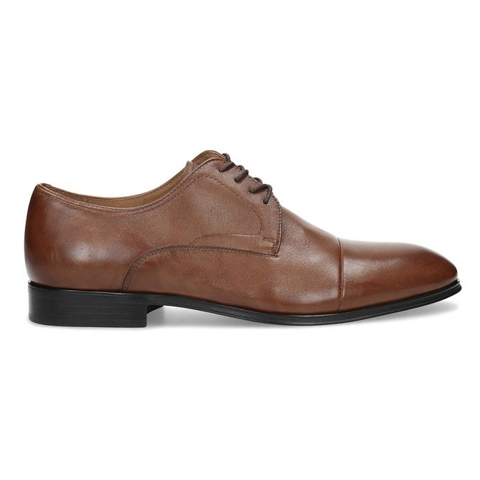 Brązowe skórzane półbuty męskie bata, brązowy, 826-3406 - 19
