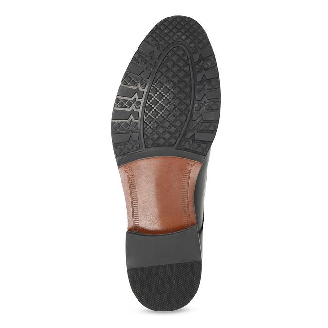 Męskie buty typu Monk z czarnej skóry bata, czarny, 824-6632 - 18