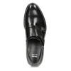 Męskie buty typu Monk z czarnej skóry bata, czarny, 824-6632 - 17