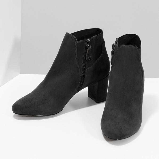 Szare botki damskie zelastycznymi obłożynami bata, szary, 799-2625 - 16