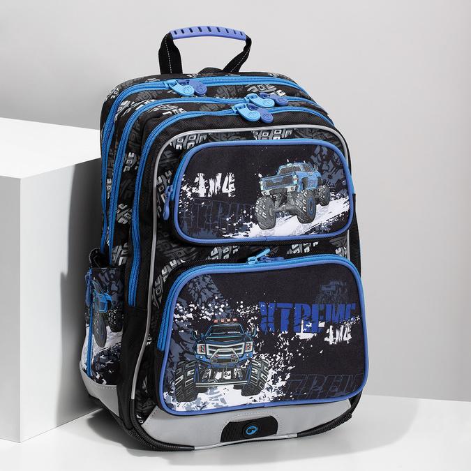 Plecak szkolny Monster Truck bagmaster, niebieski, 969-9713 - 17