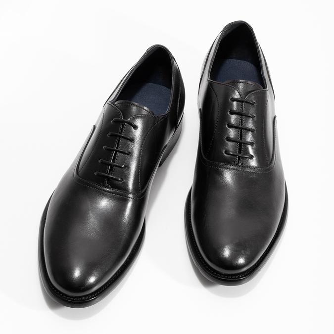Czarne skórzane półbuty męskie typu oksfordy bata, czarny, 824-6615 - 16
