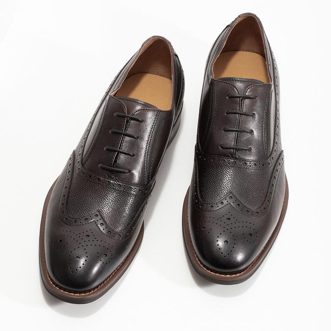 Brązowe skórzane półbuty typu oksfordy bata, brązowy, 826-4785 - 16