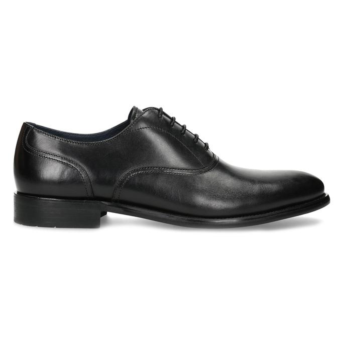 Czarne skórzane półbuty męskie typu oksfordy bata, czarny, 824-6615 - 19