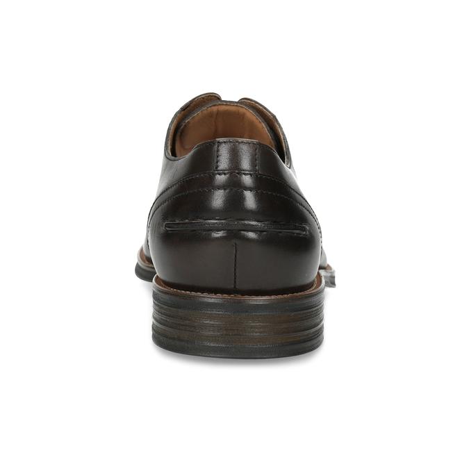 Brązowe skórzane półbuty typu angielki bata, brązowy, 826-4787 - 15