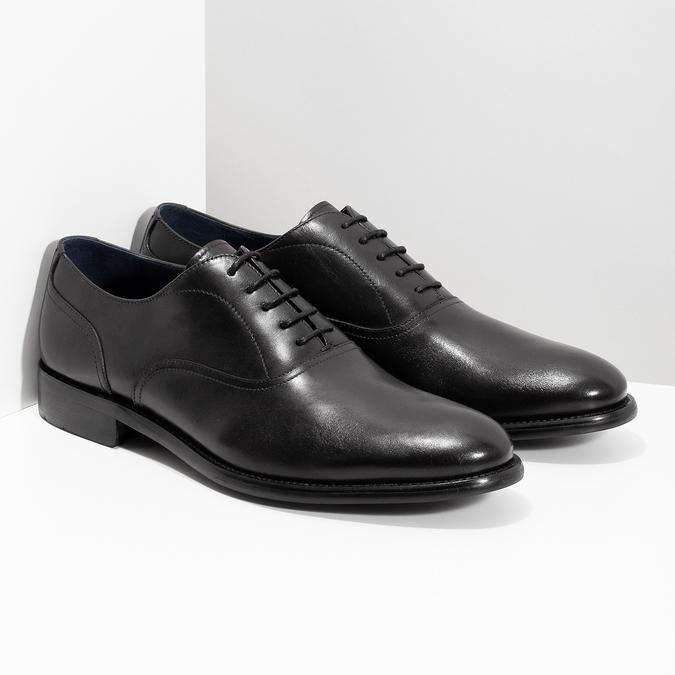 Czarne skórzane półbuty męskie typu oksfordy bata, czarny, 824-6615 - 26