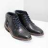 Skórzane obuwie męskie za kostkę bata, czarny, 826-6611 - 26
