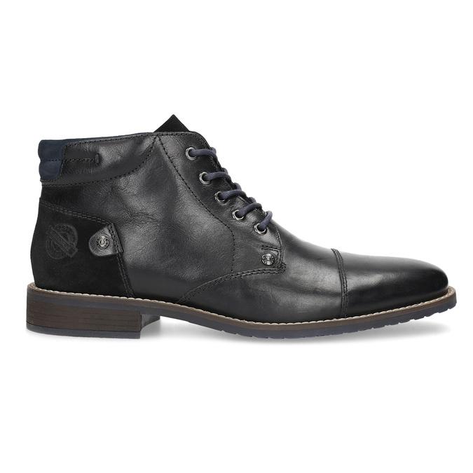 Skórzane obuwie męskie za kostkę bata, czarny, 826-6611 - 19