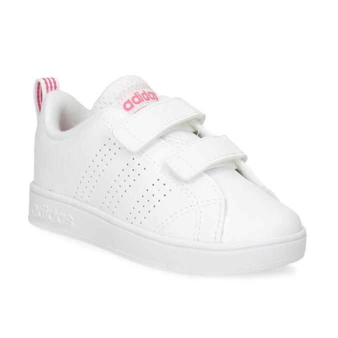 Białe trampki dziecięce zperforacją I zapięciami na rzepy adidas, biały, 101-5133 - 13