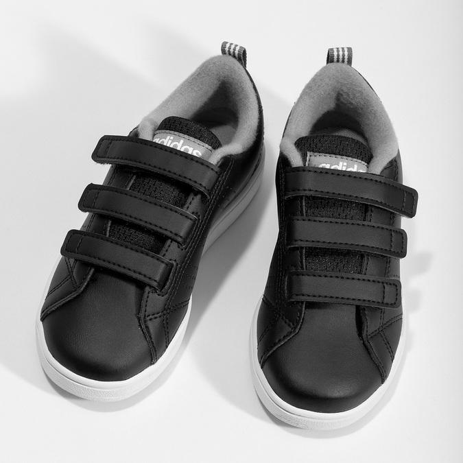 Czarne trampki dziecięce na rzepy adidas, czarny, 301-6268 - 16