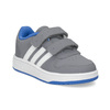 Szare trampki dziecięce zniebieskimi elementami adidas, szary, 101-2194 - 13