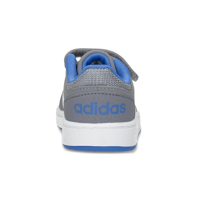 Szare trampki dziecięce zniebieskimi elementami adidas, szary, 101-2194 - 15