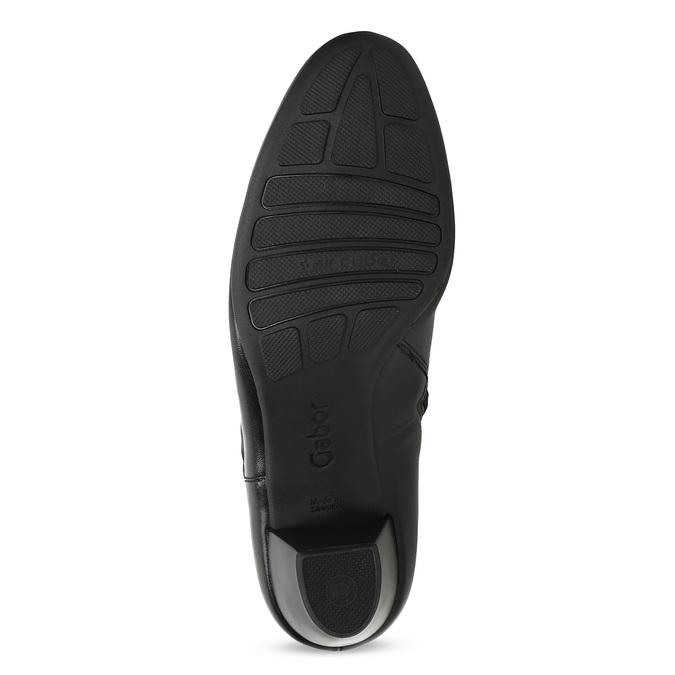 Czarne skórzane botki zkokardą gabor, czarny, 614-6005 - 18