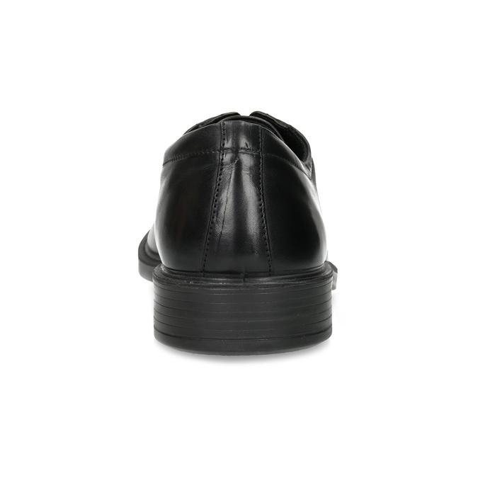 Czarne skórzane półbuty męskie comfit, czarny, 824-6820 - 15
