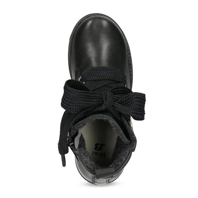 Skórzane botki dziecięce mini-b, czarny, 424-6600 - 17
