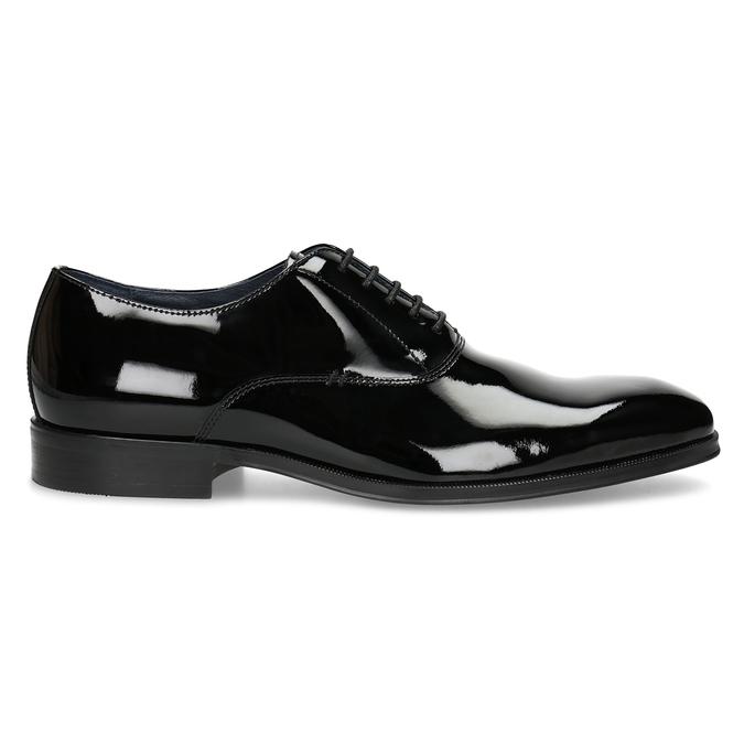 Lakierowane skórzane półbuty męskie typu oksfordy bata, czarny, 828-6608 - 19