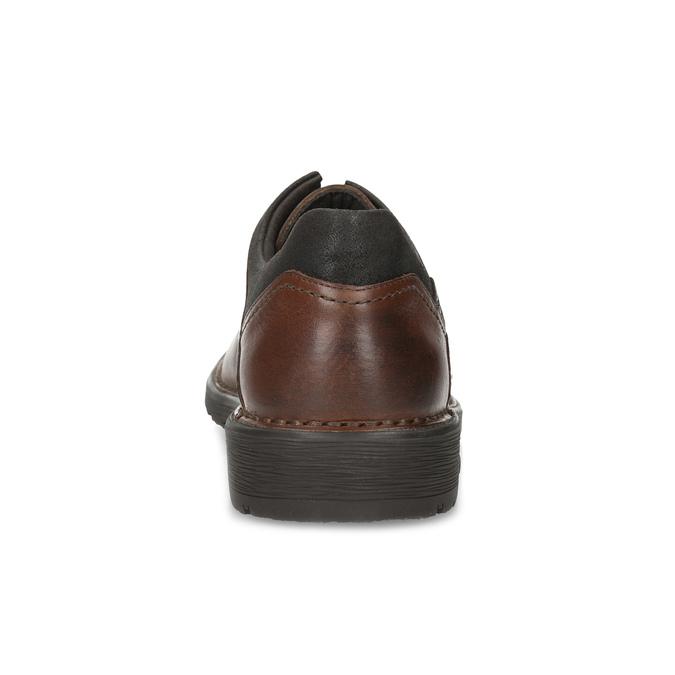 Skórzane półbuty męskie na grubej podeszwie fluchos, brązowy, 826-3994 - 15