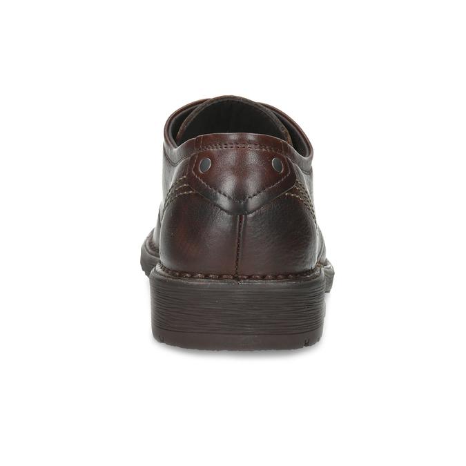 Brązowe skórzane półbuty na grubej podeszwie fluchos, brązowy, 826-4998 - 15