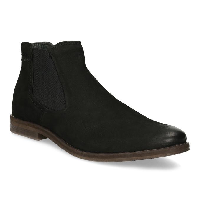 Czarne zamszowe obuwie męskie typu chelsea bugatti, czarny, 819-6025 - 13