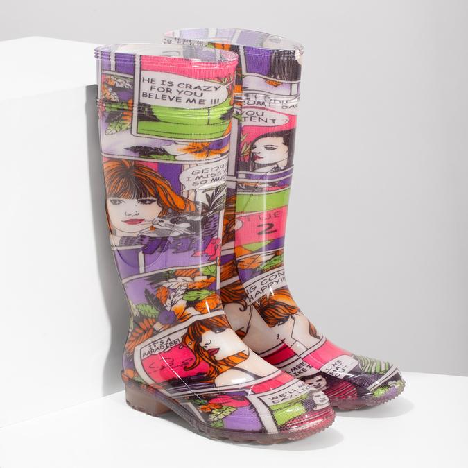 Komiksowe kalosze damskie bata, multi color, 592-0606 - 26
