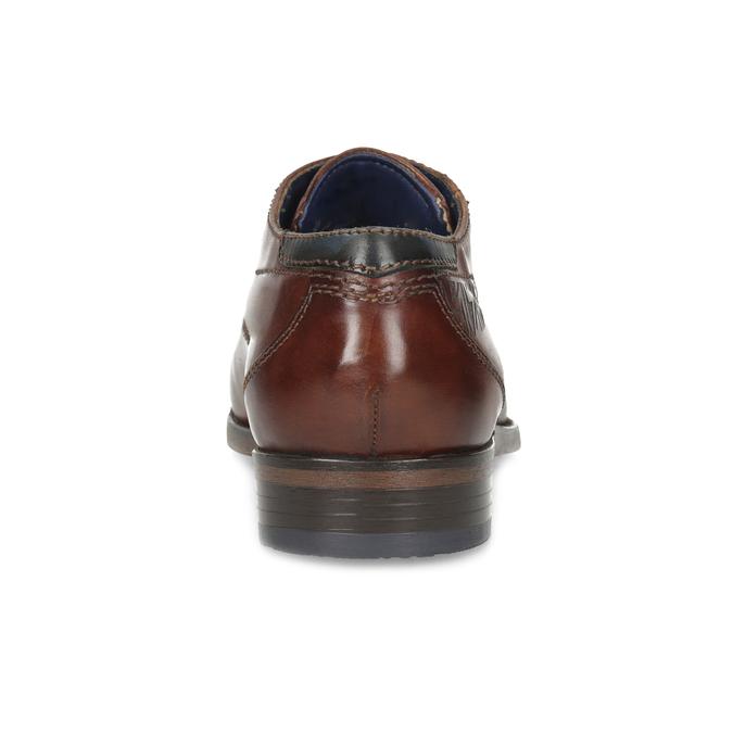 Brązowe skórzane półbuty zornamentami bugatti, brązowy, 826-4078 - 15