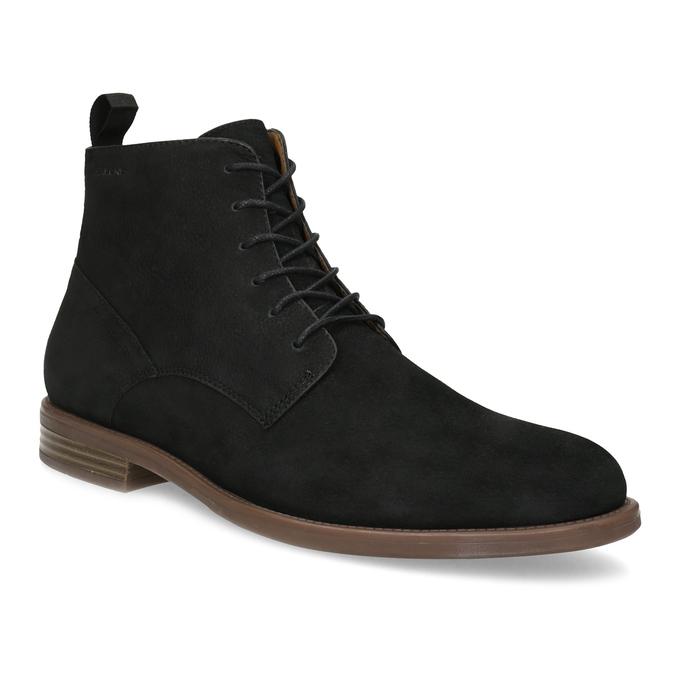 Czarno-brązowe skórzane obuwie męskie za kostkę vagabond, czarny, 826-6153 - 13